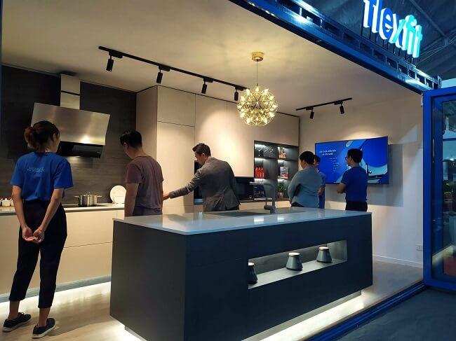Gian hàng Flexfit tại triển lãm Vietbuild