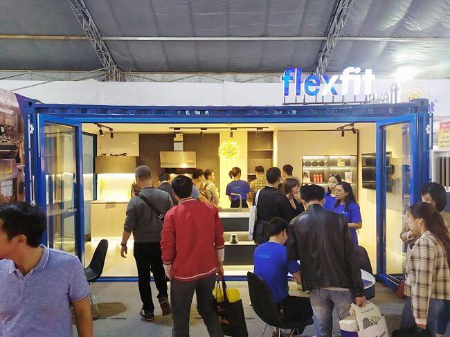 Gian trưng bày Flexfit tại Triển lãm Vietbuild
