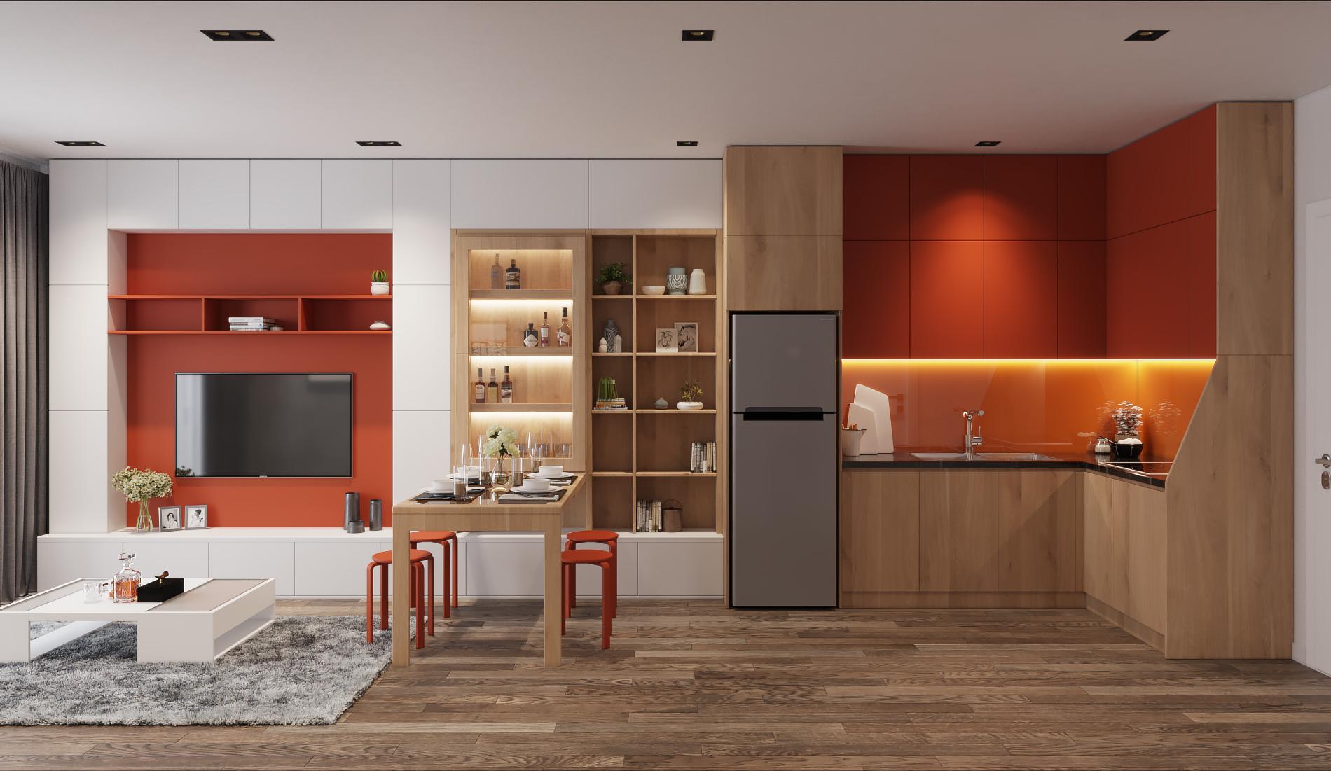 Những mẫu bếp màu gỗ luôn mang lại cho không gian vẻ đẹp thanh lịch và hiện đại.