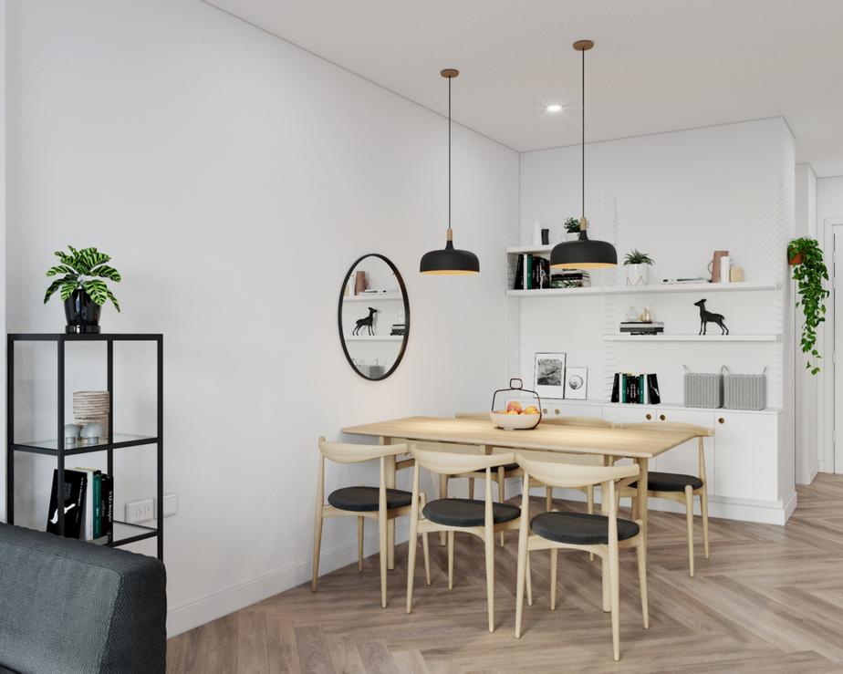 Căn bếp là gợi ý tuyệt vời cho những không gian nhỏ và theo phong cách thiết kế tối giản.