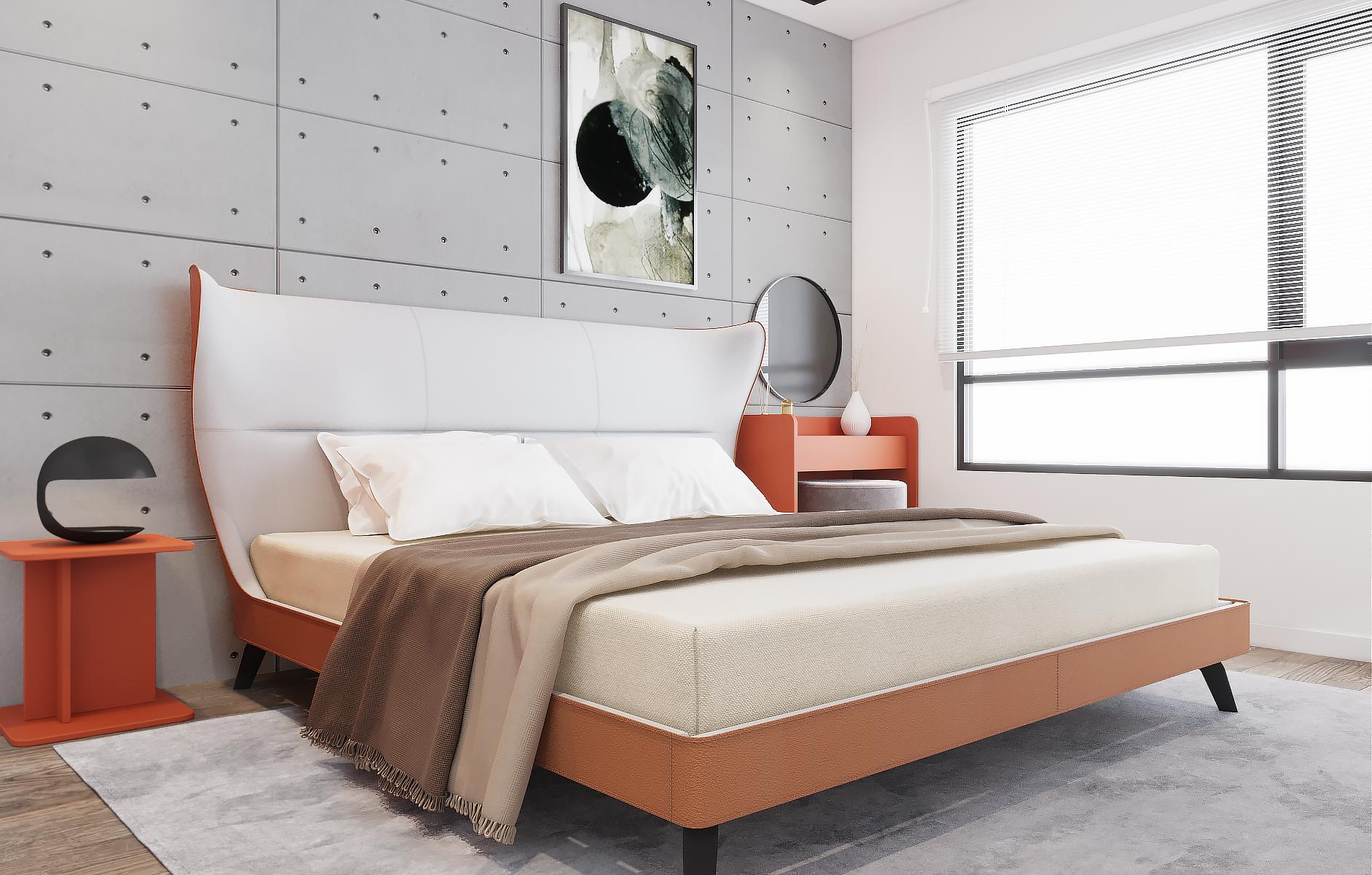 Giường sở hữu thiết kế khá độc lạ, mang lại cho người dùng cảm giác nghỉ ngơi tuyệt vời.