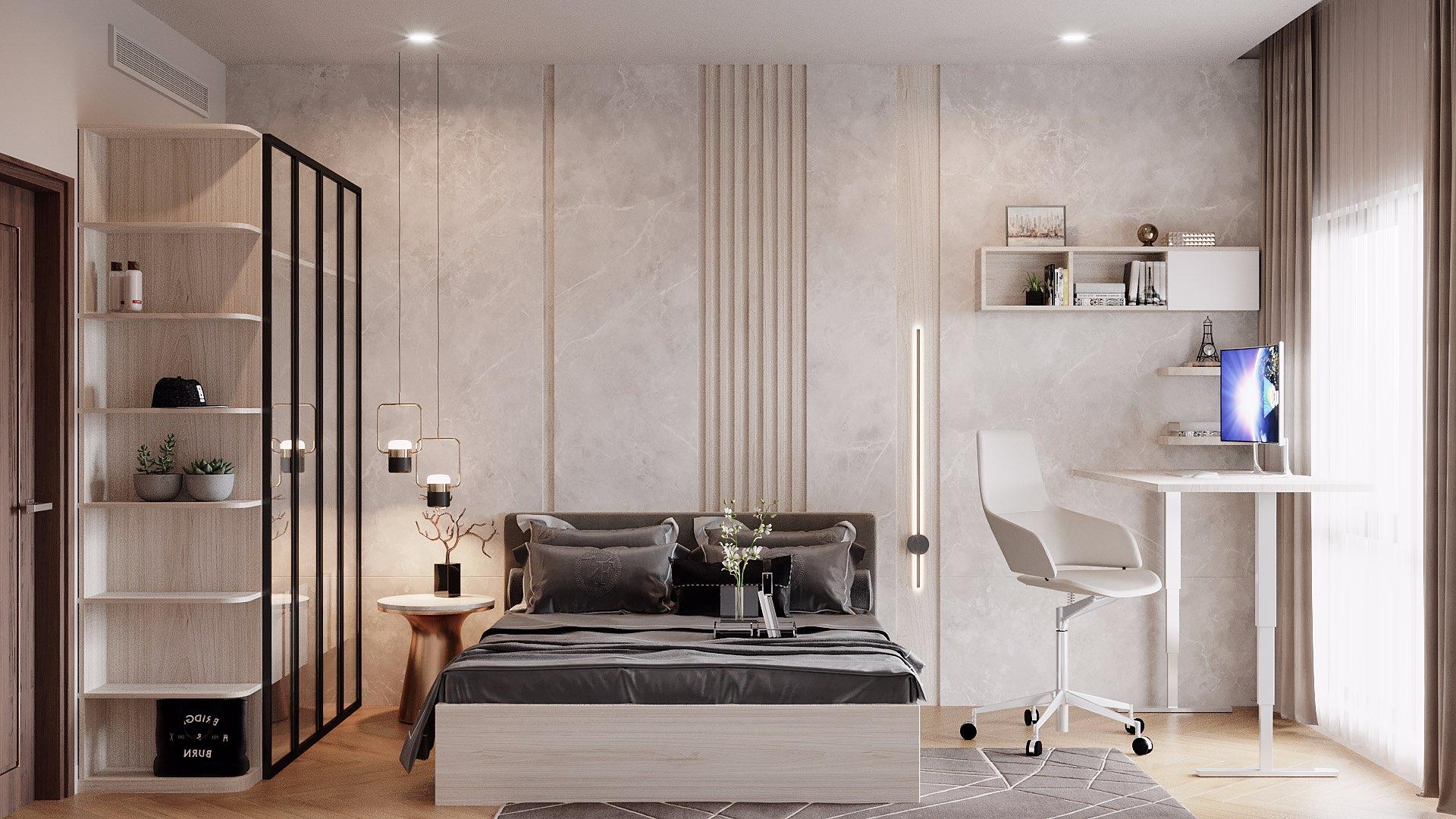 Các mẫu giường gỗ công nghiệp thường có màu sắc khá bắt mắt và đa dạng.