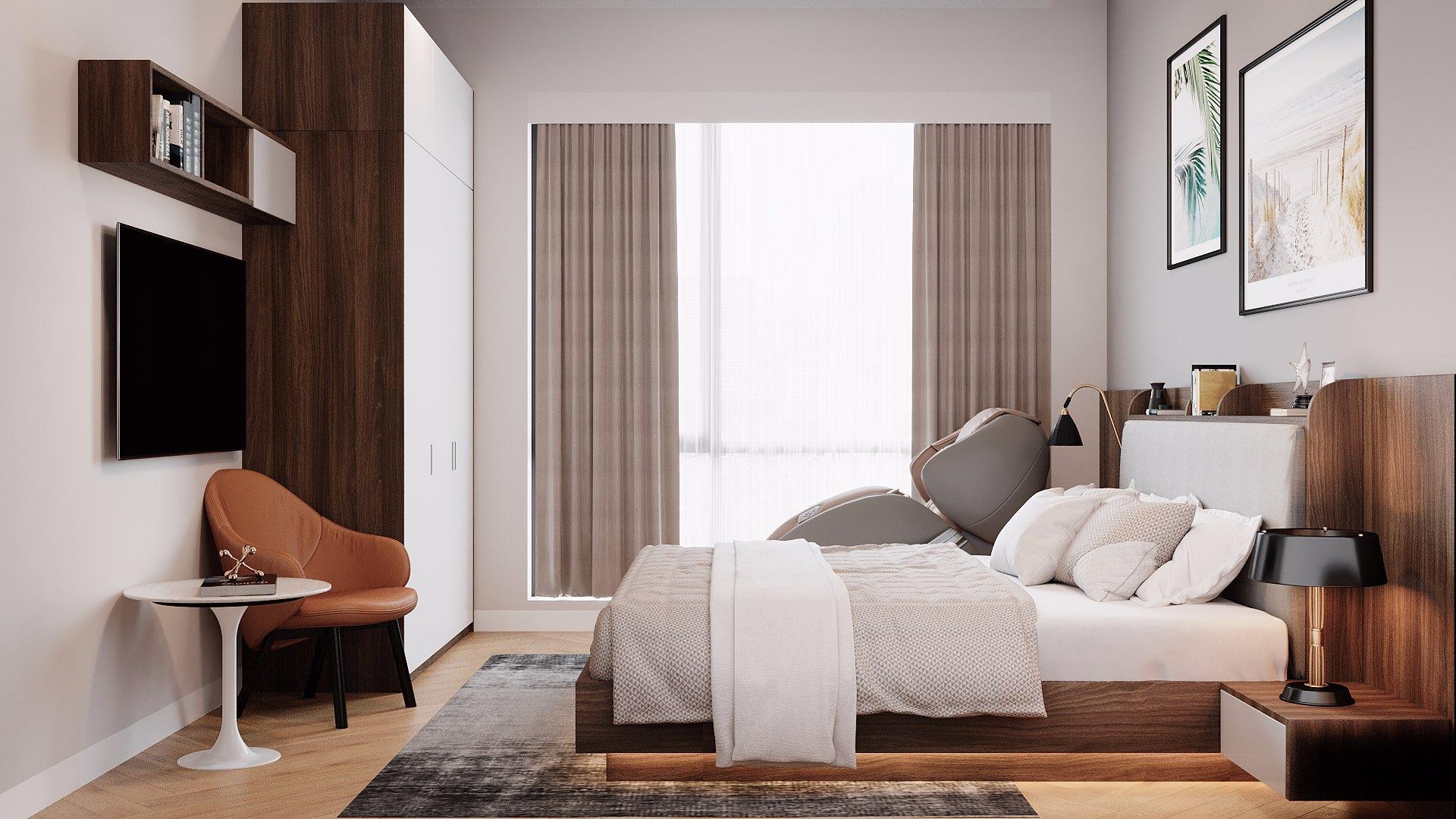 Chiếc giường MDF phủ Laminate có khả năng kháng ẩm cực tốt nên dù đặt sát nền bạn cũng không cần lo lắng, nhất là những ngày nồm ẩm hay không may làm đổ nước ra sàn.