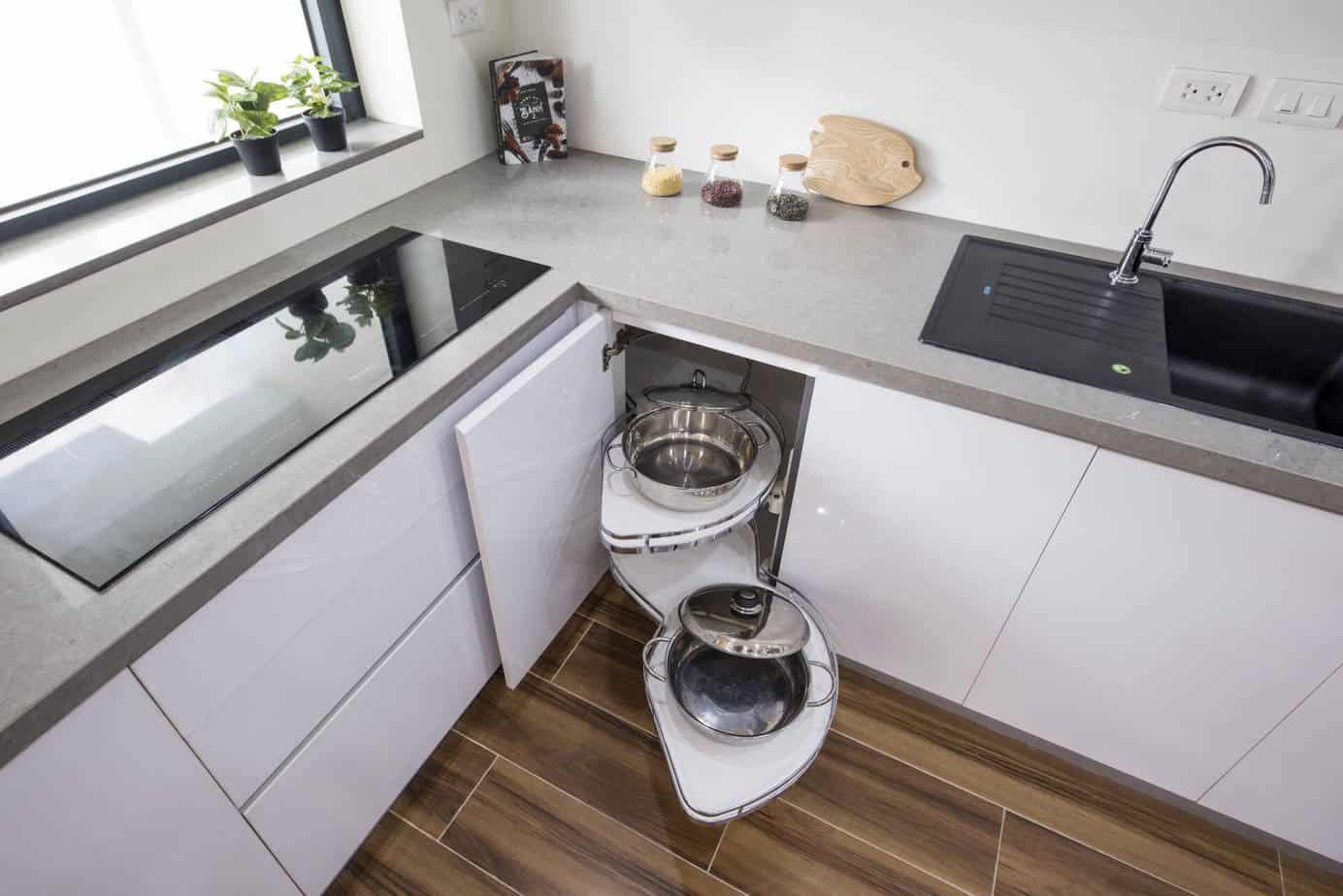 Lựa chọn các thiết bị tủ bếp thông minh để tăng sức chứa
