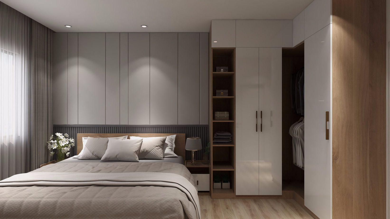 Sử dụng đồng bộ chất liệu các sản phẩm nội thất sẽ giúp căn phòng thêm sang trọng và cuốn hút hơn.