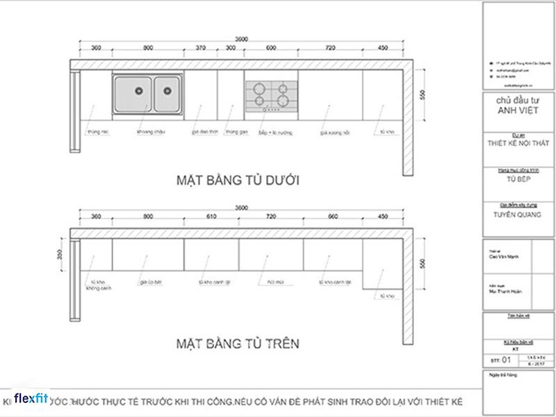 tủ bếp dưới bằng gỗ