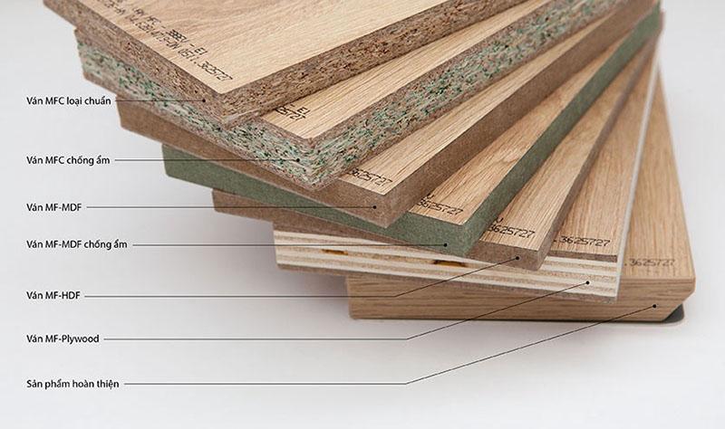 Cốt gỗ làm tủ bếp phủ Melamine