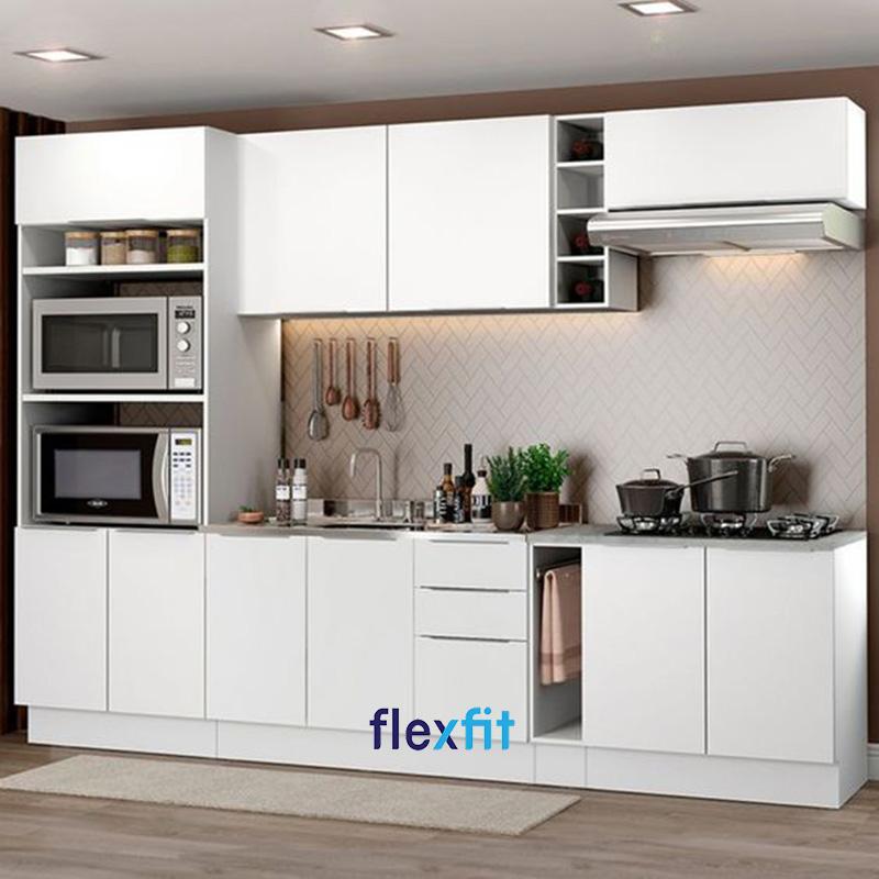 Tủ bếp chữ i phủ Acrylic mà trắng là sản phẩm được nhiều người ưa chuộng