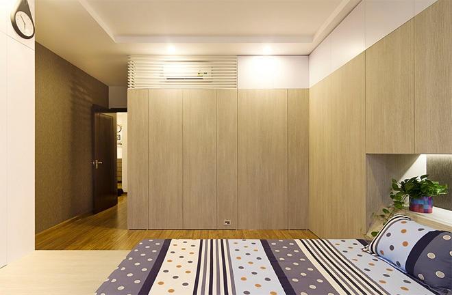 Tủ âm tường chất liệu gỗ công nghiệp vừa giúp không gian trở nên hiện đại, đảm bảo chất lượng vừa có mức giá hợp lý.