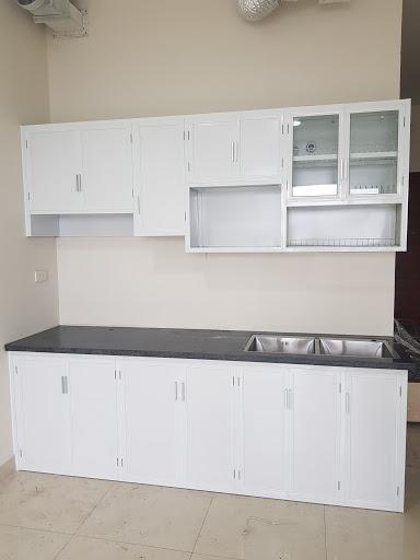 Tủ bếp nhôm kính không bị nứt nẻ, bong tróc, giá thành rẻ