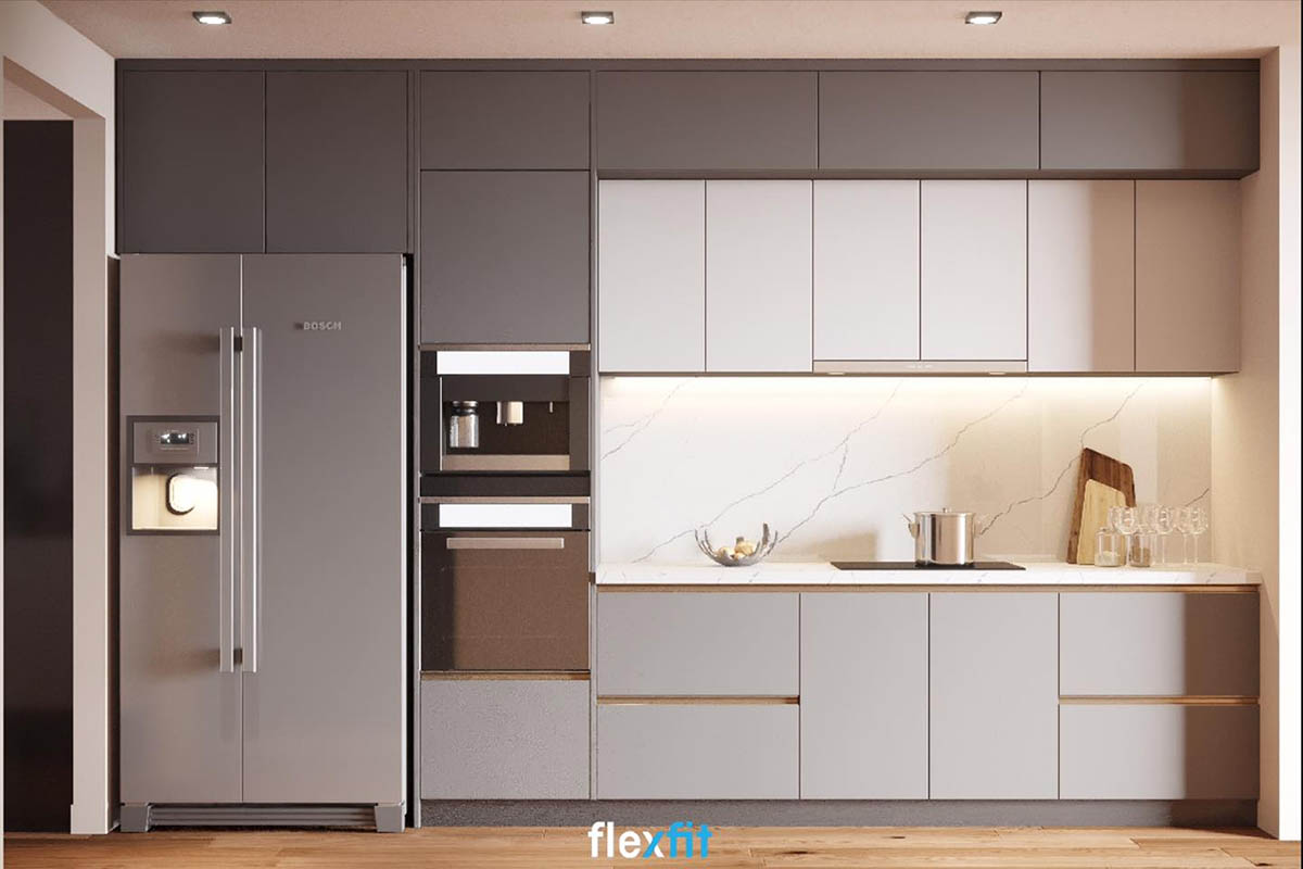 Tủ bếp phủ Melamine tiết kiệm chi phí