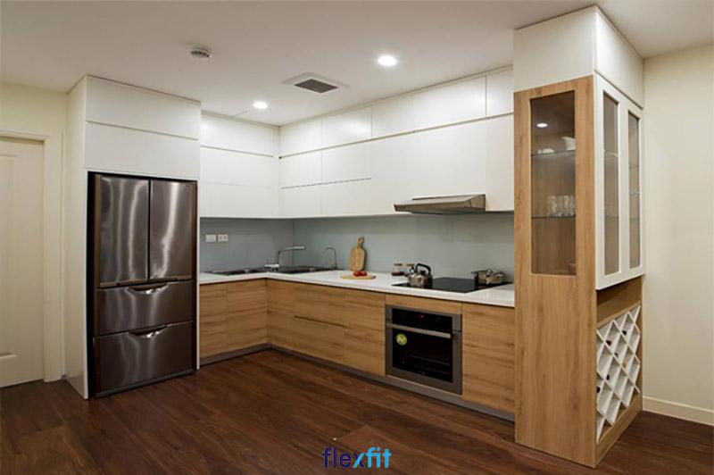 Tủ bếp phủ Melamine hiện đại