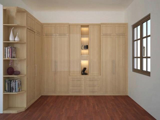 Bên cạnh chức năng chứa quần áo, mẫu tủ quần áo chữ L này còn giúp tiết kiệm không gian tối đa.