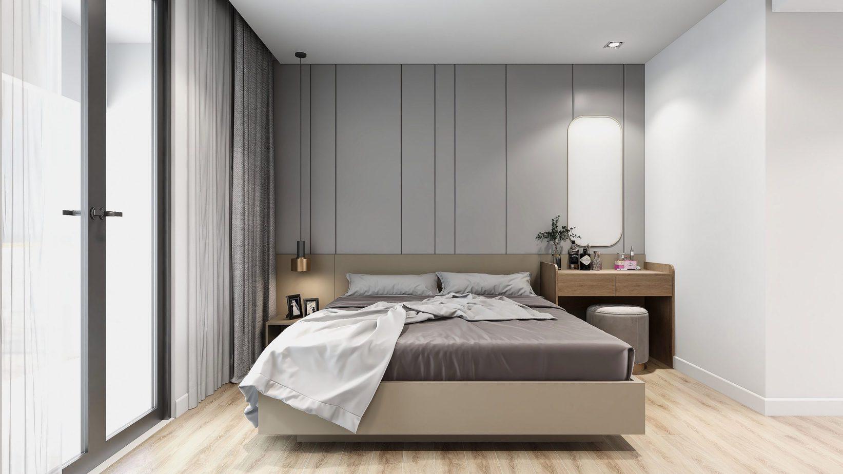 Gam màu be mang lại vẻ đẹp nổi bật nhưng đầy tinh tế cho căn phòng.