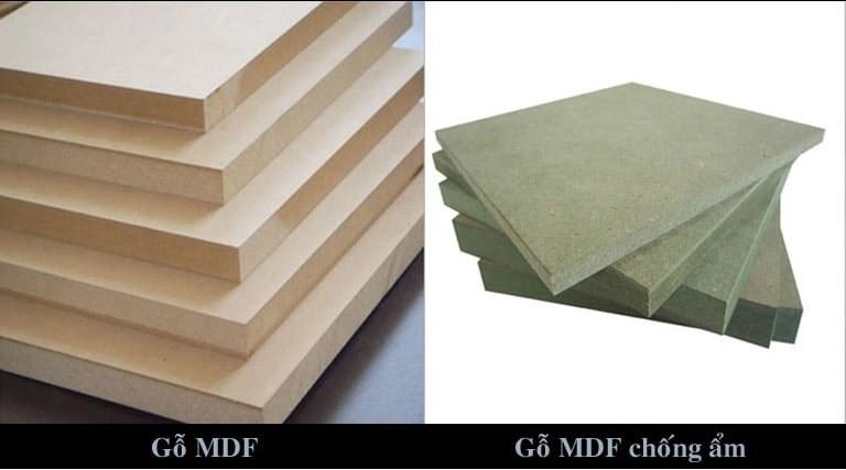 Cốt gỗ MDF màu xanh có khả năng chống ẩm cao hơn