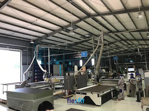 Nhà máy sản xuất của Flexfit được đầu tư dây chuyền máy móc hiện đại