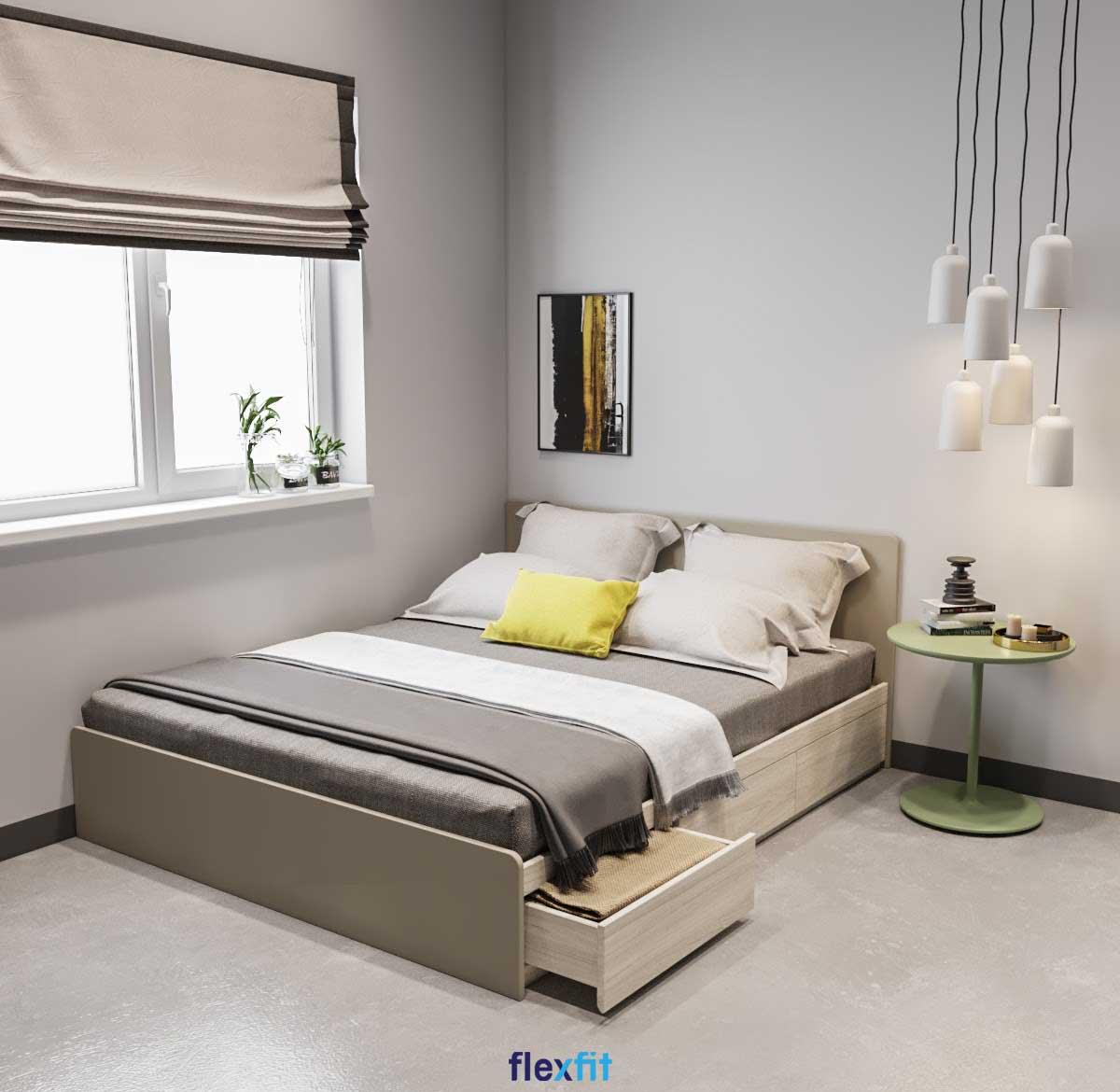 Một căn phòng ngủ thông minh không chỉ ở việc lựa chọn các sản phẩm nội thất đa năng mà còn thể hiện ở việc sắp xếp và tận dụng chúng một cách hợp lý, khoa học nhất