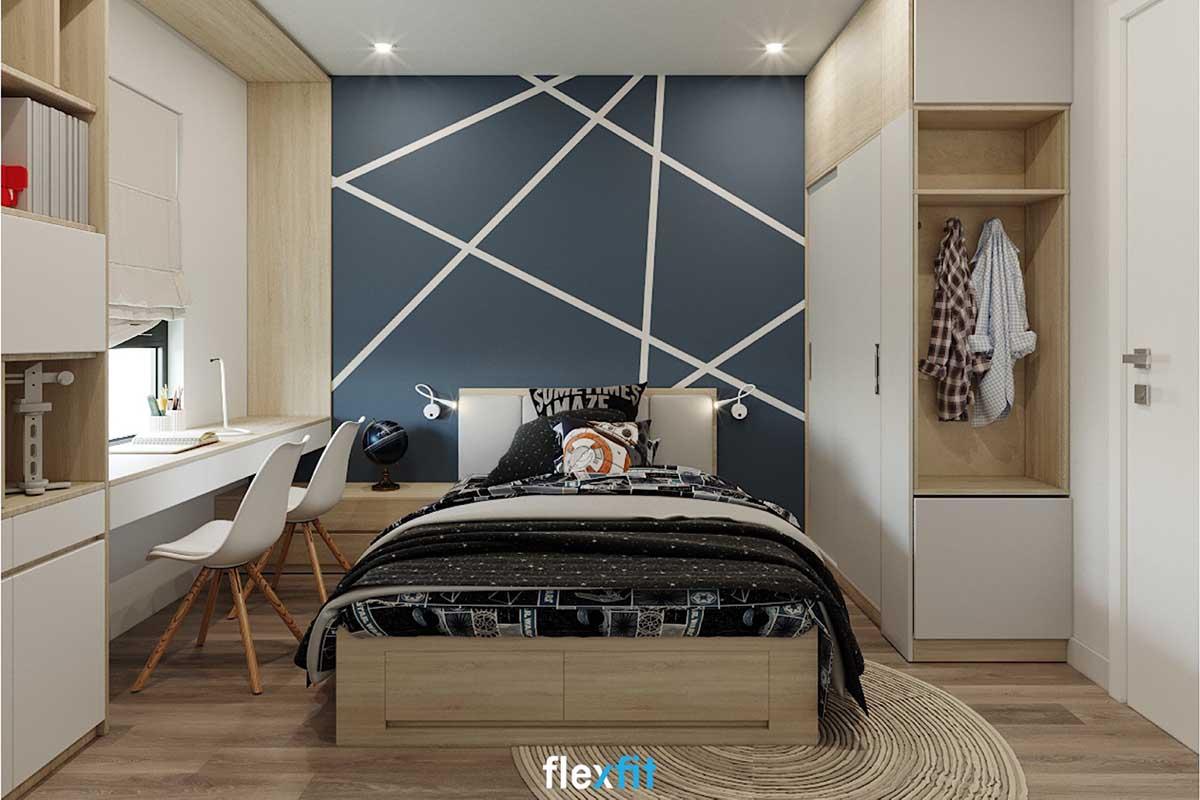 Mẫu giường ngủ gỗ công nghiệp có ngăn kéo đặc biệt thích hợp với các không gian nhỏ