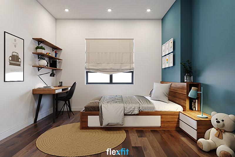 Giường có ngăn kéo có kích thước và màu sắc phù hợp