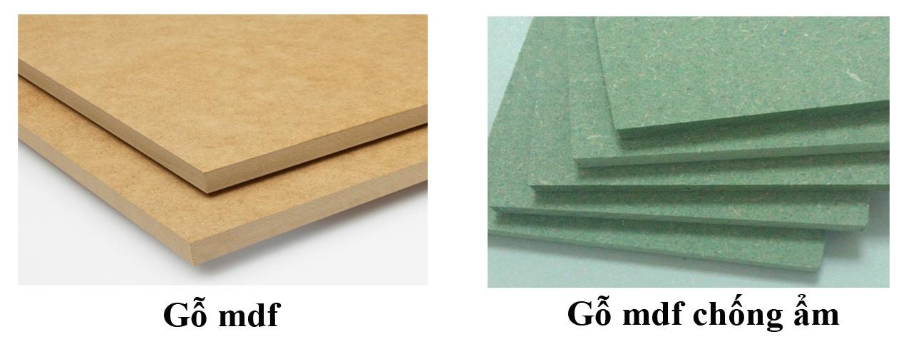 Cốt gỗ MDF xanh có khả năng chống ẩm tốt hơn
