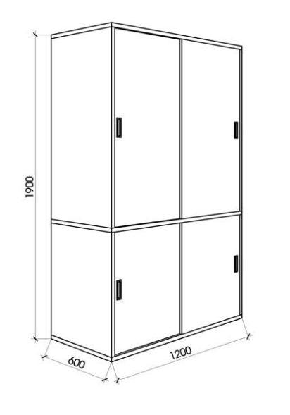 Kích thước tiêu chuẩn của tủ quần áo 2 cánh