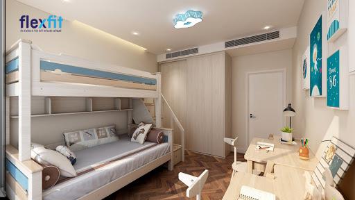 Giường tầng không chỉ là nơi nghỉ ngơi mà còn thành một nơi vui chơi vô cùng tuyệt vời.