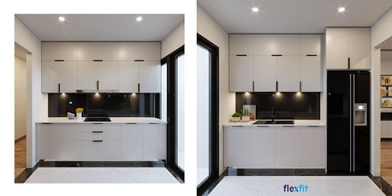 Tủ bếp âm tường mang đến sự độc đáo, khác biệt cho không gian bếp