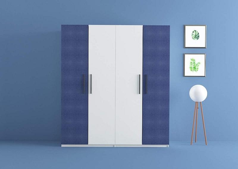 Mẫu tủ này sử dụng chất liệu lõi MDF phủ Laminate có thêm kệ sách cùng một hệ thống liền với bàn học, tận dụng tối đa không gian, đem lại tiện nghi đầy đủ cho phòng ngủ.