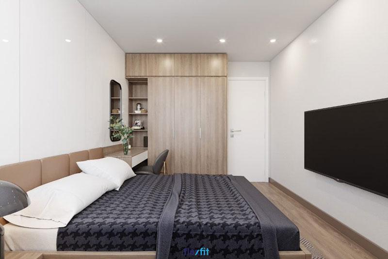 Tủ quần áo 3 cánh mở được làm từ chất liệu lõi MDF phủ Laminate bền đẹp, có khả năng chống ẩm mốc cực tốt. Tủ có màu gỗ sáng cùng những đường vân dài bắt mắt cho căn phòng vẻ đẹp hiện đại, sang trọng.
