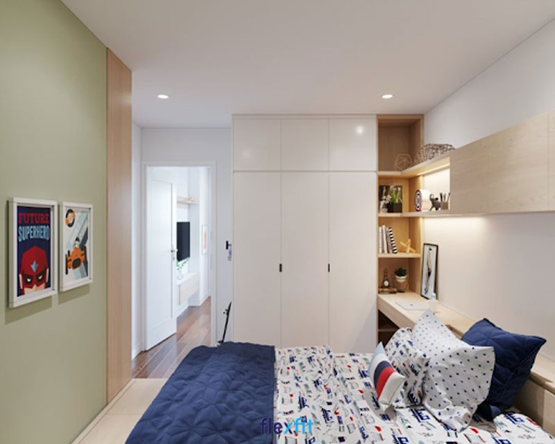 Mẫu tủ quần áo 3 cánh gam màu trắng sáng bóng tạo nên vẻ đẹp hiện đại, giúp phản chiếu ánh sáng tốt, cho căn phòng trở nên tươi mới, đầy sức sống. Ngoài ra, tủ được bố trí xen kẽ hộc không cánh để sách vở, đồ lưu niệm tiện lợi.