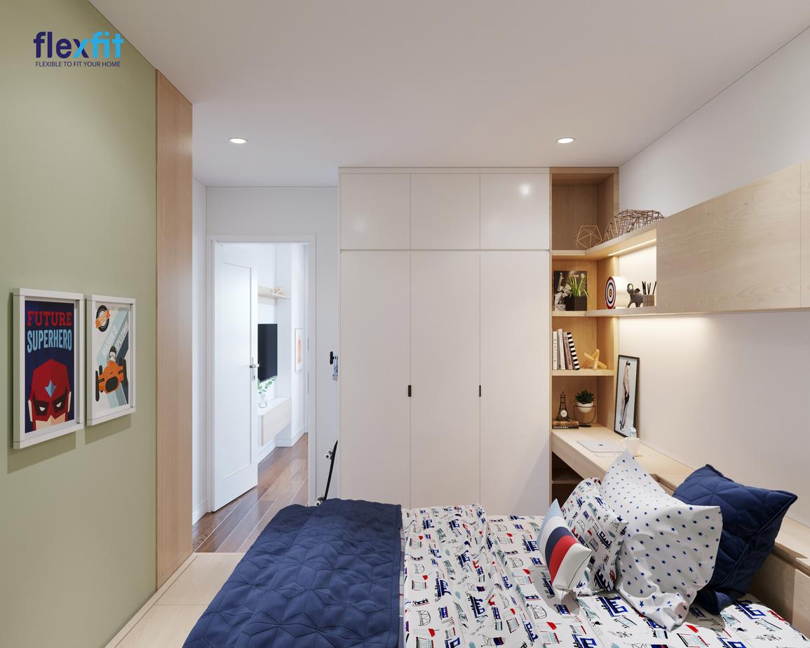Mẫu tủ quần áo 3 cánh này sử dụng chất liệu lõi MDF có khả năng chống ẩm, phủ Laminate bền đẹp. Thiết kế tủ rộng 3m, cao kịch trần tăng tối đa không gian lưu trữ, đặc biệt phù hợp với không gian phòng ngủ nhỏ.