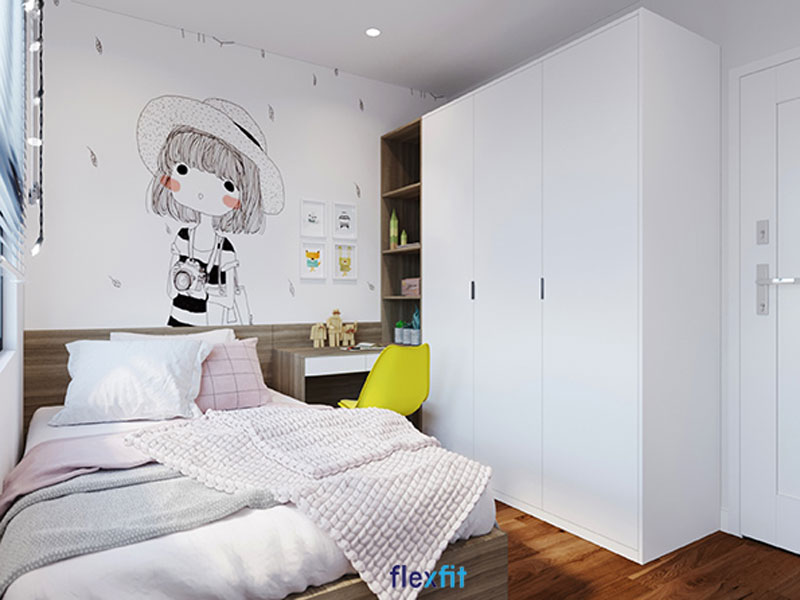 Tủ quần áo đơn giản thích hợp với không gian nhỏ