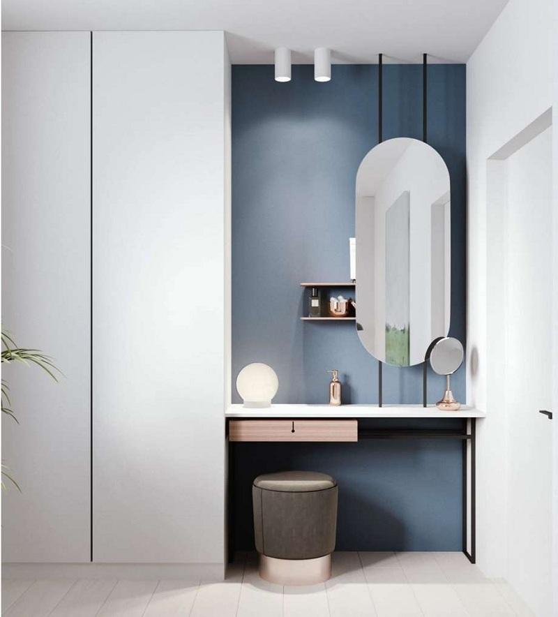 Tủ quần áo kết hợp bàn trang điểm vừa tiết kiệm diện tích, vừa tăng tính thẩm mỹ cho không gian phòng