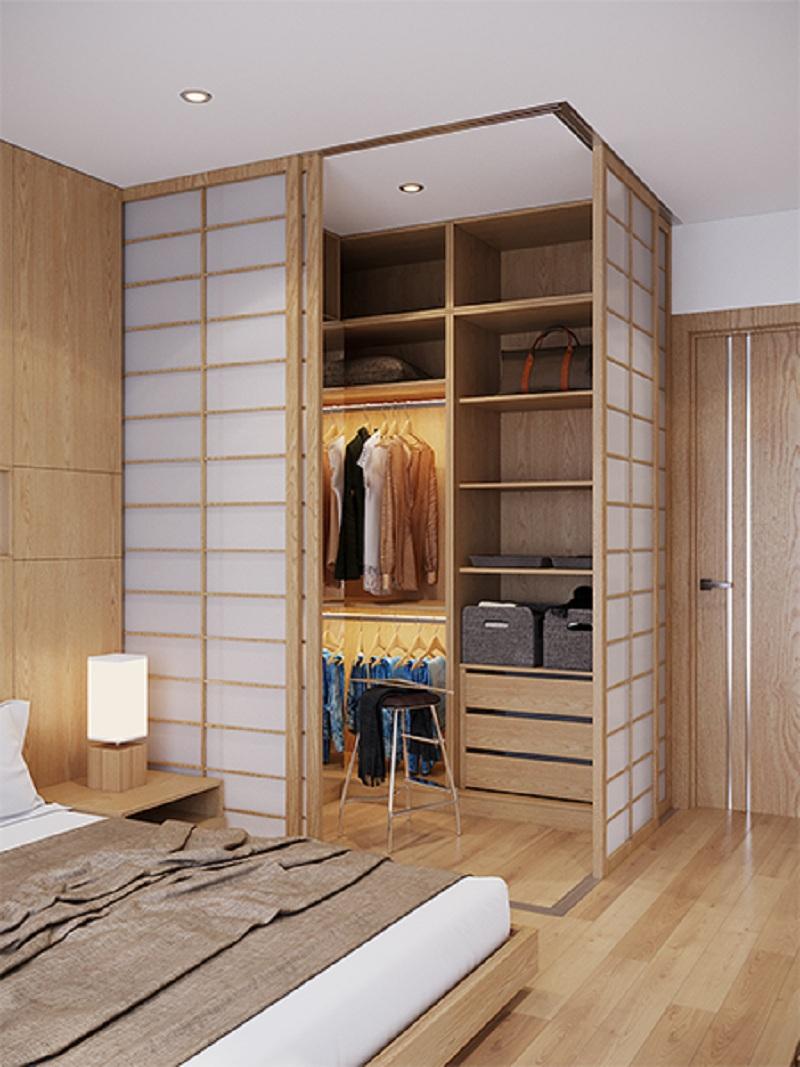 Bố trí, sắp xếp đồ đạc trong tủ không cánh một cách khoa học để không gian trở nên gọn gàng, ngăn nắp hơn