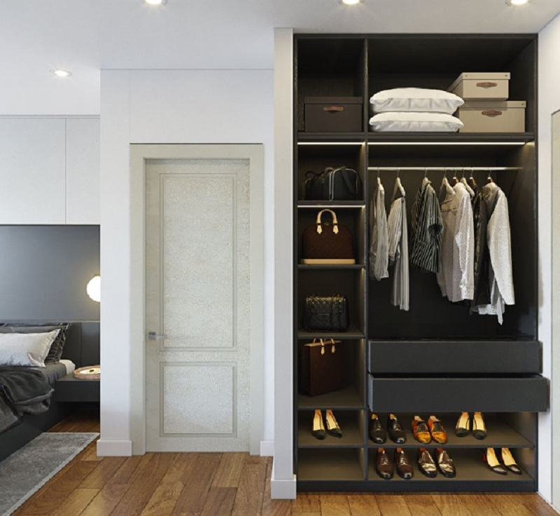 Tủ quần áo không cánh mang vẻ đẹp mới lạ, độc đáo và phù hợp với không gian hiện đại