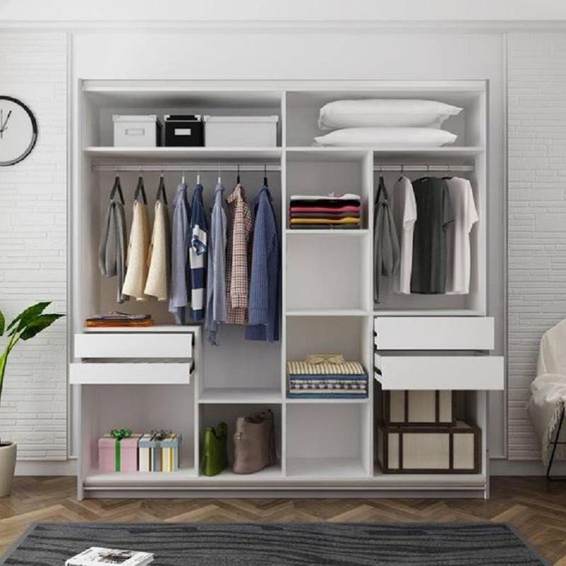 Với những căn phòng có diện tích nhỏ hơn thì mẫu tủ 1m2 này là sản phẩm vô cùng phù hợp. Thiết kế độc đáo, đa dạng các ngăn chứa giúp bạn lưu trữ đồ theo phân loại dễ dàng.