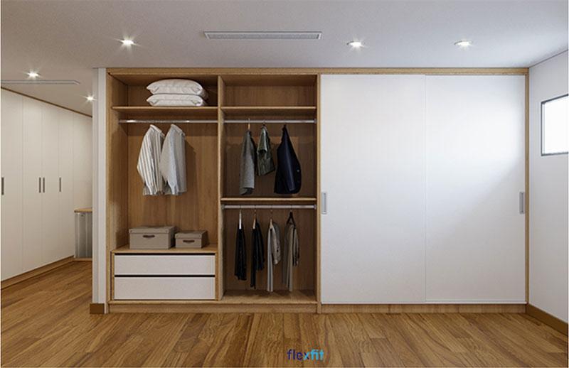 Tủ quần áo không cánh là luồng gió mới cho xu hướng nội thất hiện đại