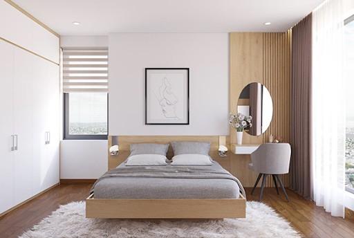 Giường MDF không cong vênh, không mối mọt mang lại độ bền cao khi sử dụng