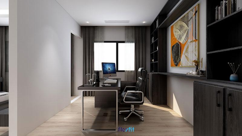 Tối giản nhưng đầy tinh tế là vẻ đẹp mà mẫu bàn làm việc máy tính này mang lại cho căn phòng. Sở hữu màu đen ghi sang trọng, nổi bật cùng chân khung inox mới lạ, chắc chắn, đây là mẫu bàn làm việc rất được ưa chuộng.