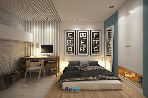 Mẫu giường bệt này với thiết kế tối giản đem lại không gian gọn gàng, hiện đại.
