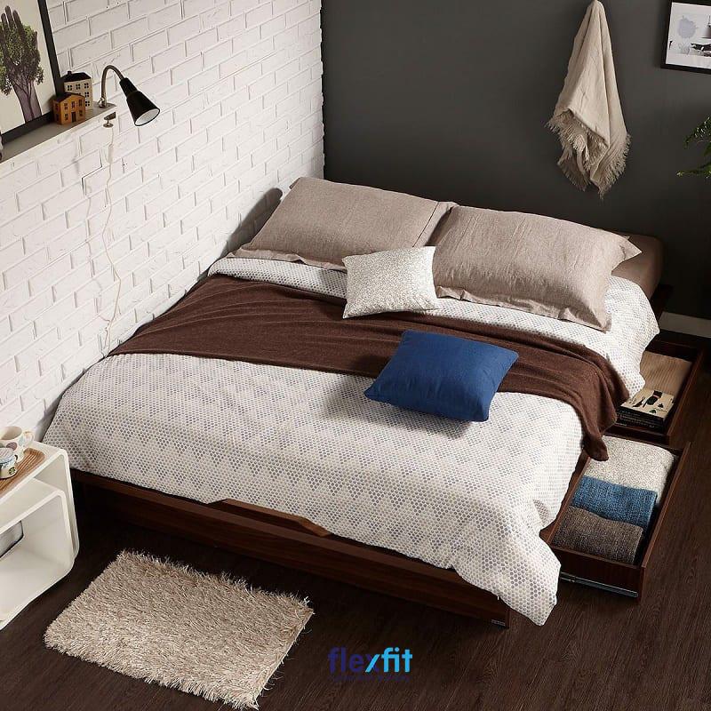 Giường ngủ gỗ công nghiệp kết hợp các ngăn chứa đồ thông minh