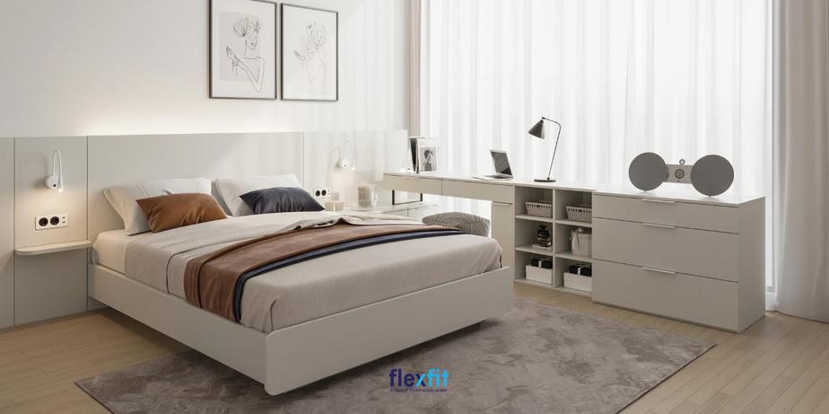 Giường ngủ công nghiệp có giá thành hợp lý, phù hợp túi tiền của đại đa số người dùng