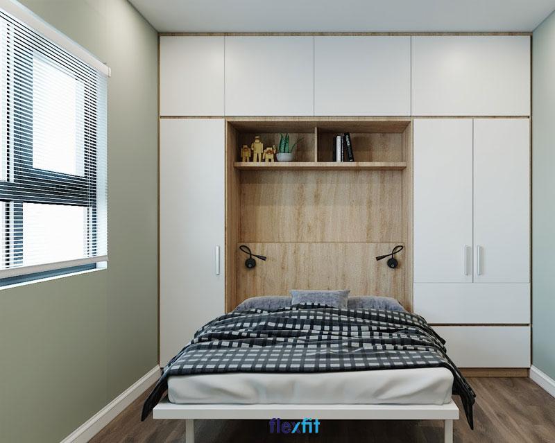 Với những căn phòng có diện tích hạn chế thì việc ưu tiên thiết kế phòng ngủ đơn giản sẽ giúp lược bớt các chi tiết rối ren, giúp căn phòng trở nên thoáng đãng và rộng rãi hơn rất nhiều.