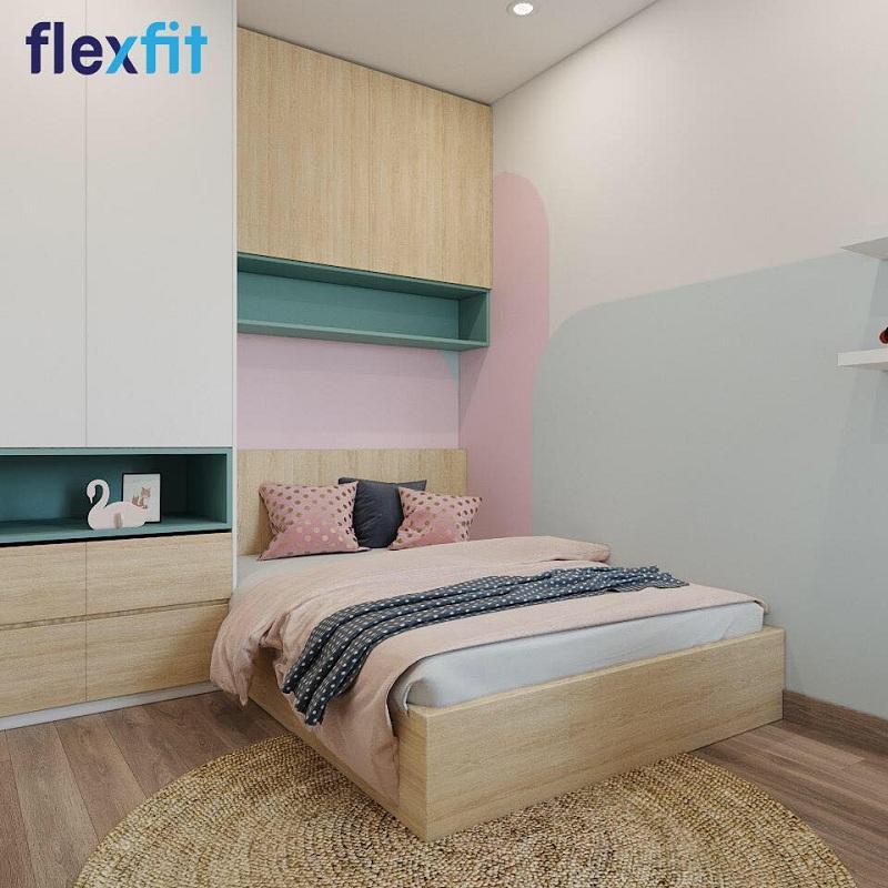 Giường liền tủ là lựa chọn hoàn hảo để phòng ngủ nhỏ trở nên tiện nghi và thoáng mát hơn.
