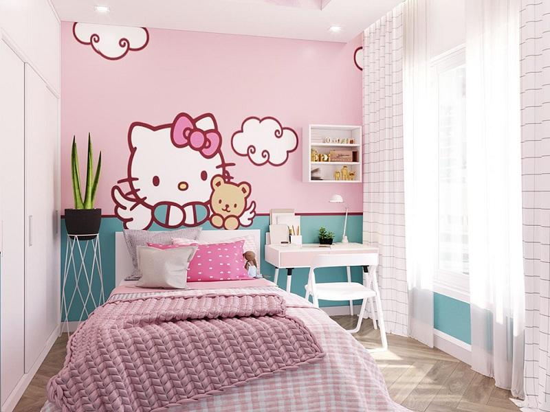 Kích thước tiêu chuẩn của giường đơn trẻ em là 0,9m x 1,8m