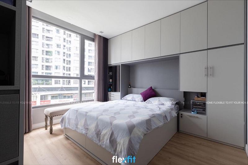 Lựa chọn giường liền tủ có kích thước và kiểu dáng phù hợp với diện tích căn phòng để tạo nên một không gian tổng thể hài hòa và đẹp mắt.
