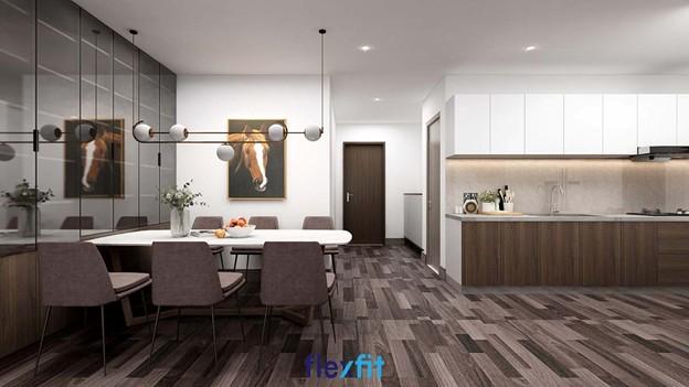 Đẹp giản dị nhưng cực kỳ hút mắt là cảm giác mẫu tủ bếp treo tường phủ Melamine chữ I màu trắng này đem lại cho căn bếp của gia đình bạn. Các ngăn tủ được thiết kế đều nhau, cách trần giúp dễ dàng vệ sinh.