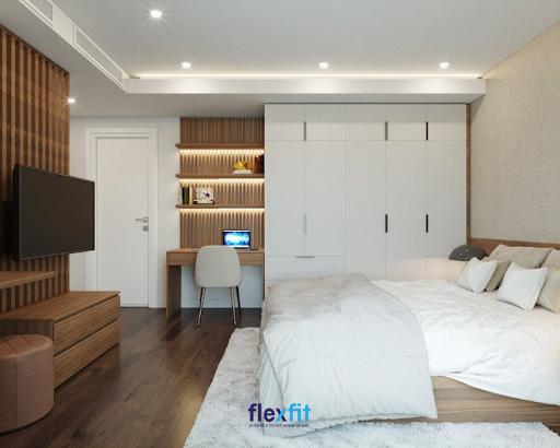 Tủ quần áo 5 buồng 2m8 thiết kế kịch trần và các ngăn kéo giúp bạn thoải mái lưu trữ đồ cho cả gia đình. Sở hữu tông màu trắng thanh lịch, sản phẩm kết hợp hài hòa với các nội thất trong phòng mang đến không gian hiện đại, gắn kết.