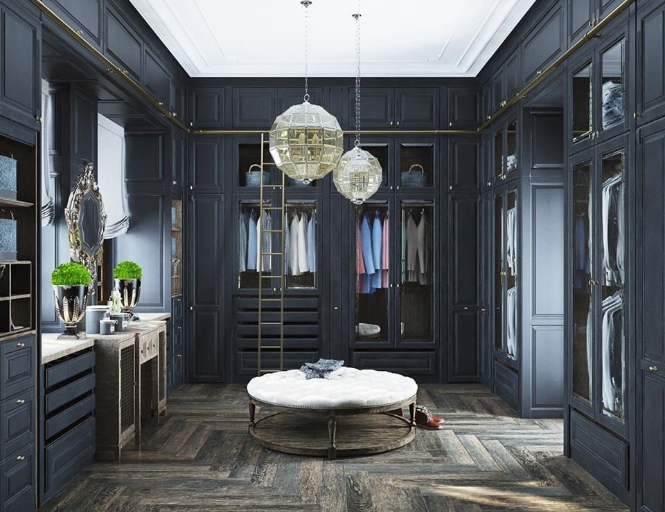 Mẫu tủ quần áo chữ U thu hút mọi ánh nhìn bởi màu sắc và kiểu dáng vô cùng trang nhã, độc đáo. Không gian phòng thay đồ theo đó mang đậm chất tân cổ điển mà vẫn đảm bảo nhiều tiện ích thông minh, hiện đại.