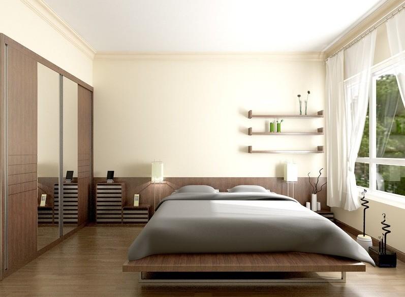 Bạn nên tránh đặt tủ quần áo có gương đối diện với giường ngủ vì như vậy phạm phong thủy, gây ảnh hưởng xấu cho chính mình, người trong nhà.